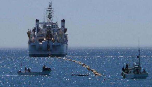 海底光缆铺设作业