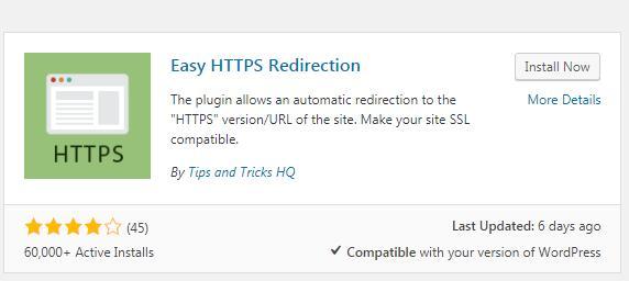 安装Easy HTTPS (SSL) Redirection插件