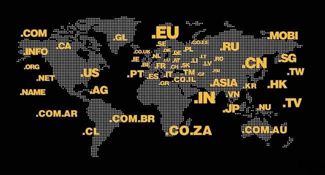 各国域名分布图