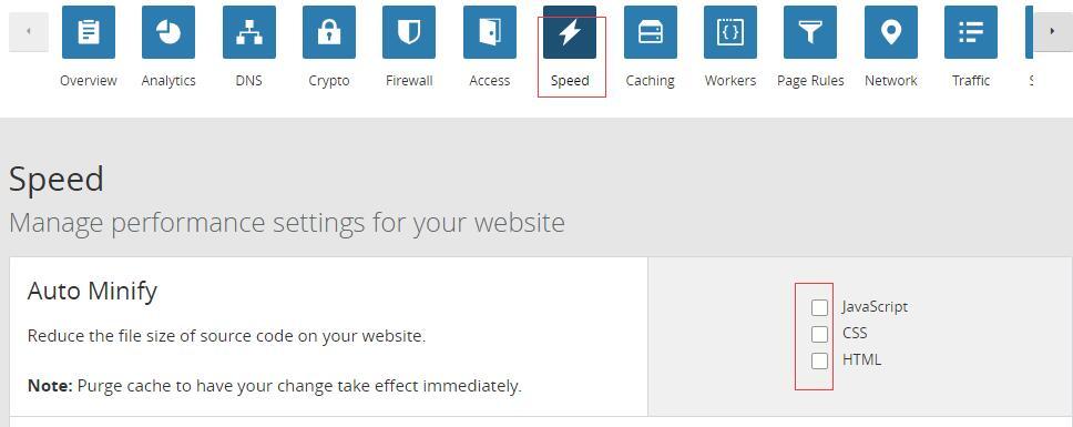 cloudflare缓存设置