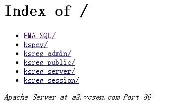 网站目录文件名