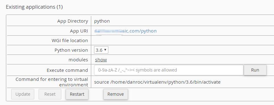 Python虚拟主机